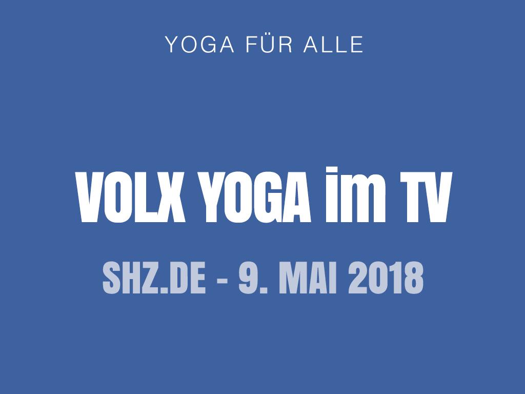 VOLX YOGA im TV