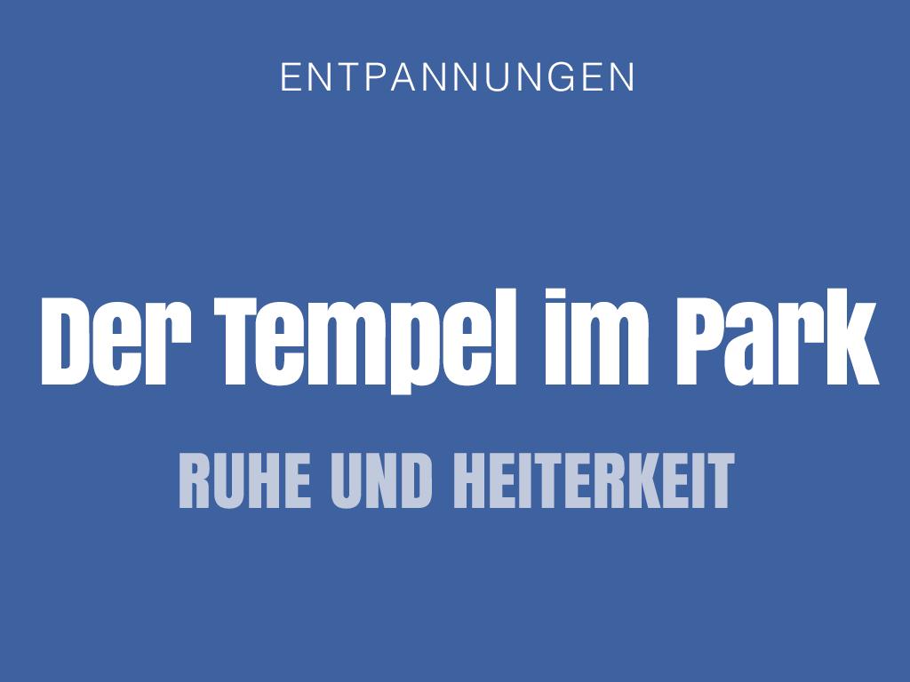 Tempel im Park