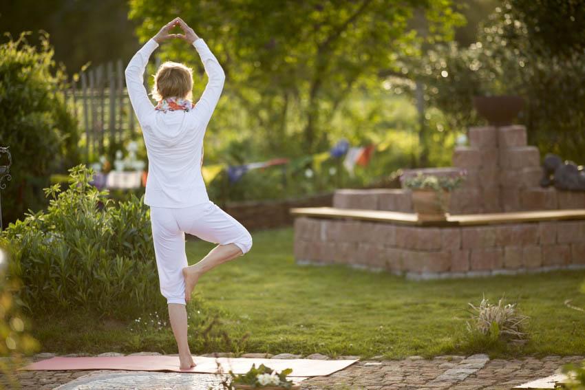 Garten und Yoga
