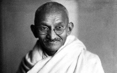 Diesmal mit Mahatma Gandhi…
